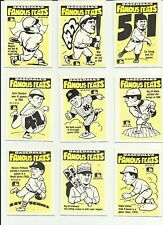 1986 FLEER BASEBALL FAMOUS FEATS COMPLETE SET 22 CARDS  MLB LOGO ON FRONT