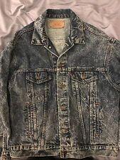 Vintage Levis Stone Washed Denim Trucker Jacket L Large 70507-0219 VTG Acid Wash