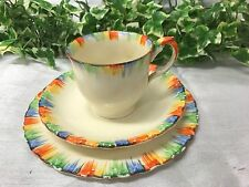 Beautiful Rare Grindley, England Multi-coloured Hand Painted Chameleon Trio