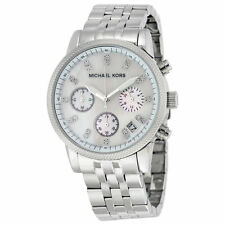 Michael Kors Women's Chronograph Ritz Stainless Steel Bracelet Watch 36mm MK5020
