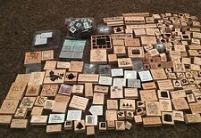 HUGE 250 Stampin Up Lot Rubber Wood Stamp STAMPS Holiday Baby Card Making