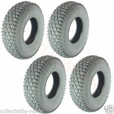 4X Tyres 4.10 / 3.5-6 4 Ply Grey Wheelchair Gopher Electric Mobility Scooter 937