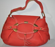 TOD'S BOOMERANG media purse textured leather Purse East / West RED NEW