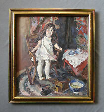 Listed Artist Mary Cotheal Burgess (1911-2002) Portrait  Still-Life Oil Painting