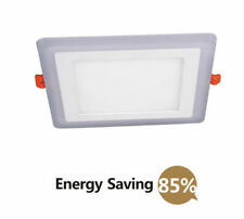 Recessed Ceiling LED Panel Light 24w Lamp 18w White 6w Blue 3mode Mood Lighting