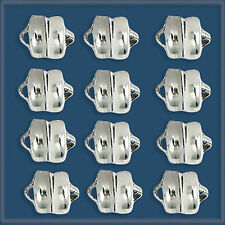 12pcs 6mm Sterling Silver 925 MAGNETIC CLASPS