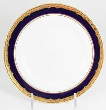 11 ROYAL WORCESTER CHINA ASTON BREAD PLATES COBALT BLUE RAISED GOLD ENCRUSTED