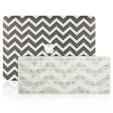 "Matte Chevron GRAY Hard Case + Keyboard Cover for Macbook Air 13"" A1369 / A1466"
