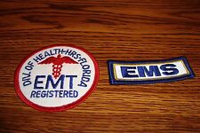 2 Different EMS EMT Patches Emergency Medical Services-Technician Collectible  j