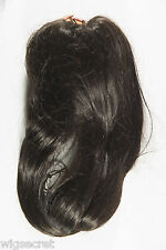 Dark Brown Brunette Medium Wavy Clip-in-Extensions French Comb Hair Pieces
