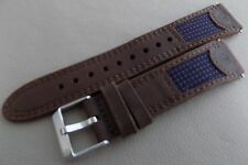 New Mens Timex Expedition Brown Water Resistant Leather 19mm Sport Watch Band
