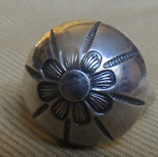 Navajo Ike (Austin) Wilson, Signed, CG Wallace Era, Hand Stamped Ring Sizeable 8