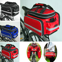 Waterproof Bicycle Cycling Rear Pannier Bike Seat Tail Rack Bag Storage Handbag