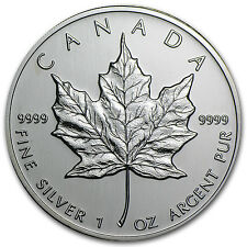 2002 1 oz Silver Canadian Maple Leaf Coin - Brilliant Uncirculated - SKU #11067