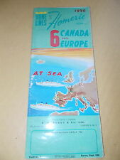 Home Lines -Homeric 6 Days Canada / Europe At Sea Brochure For 1956 -E.H.Mundy