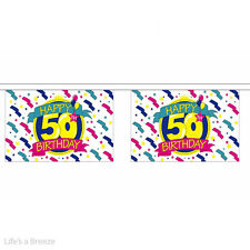 "Bunting. Happy Birthday 50th  9 x 6"" . 30 Flags"