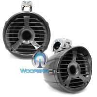 """(2) MEMPHIS 15-MM62T GRAY 6.5"""" MARINE 2 OHM 200W BOAT TOWER SPEAKERS PAIR NEW"""