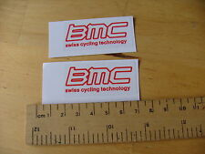 BMC Swiss Cycling Technology Bike Decals Self Adhesive A Pair FREEPOST WORLDWIDE