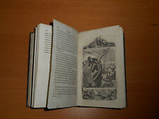 1850 Robinson Crusoe adventures engravings antique book Daniel Defoe literature