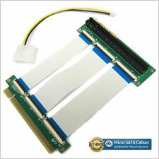 PCI-E Express X16 Riser Extension Single Slot High Speed Cable with Power