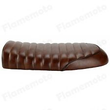 Brown Flat Custom Vintage Saddle Cafe Racer Seat For Honda CB125S CB350 CL350
