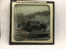 MAGIC LANTERN SLIDE NO. 47 MAID OF THE MIST BOAT NIAGARA -  3.25in x 3.25in
