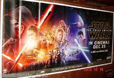 "STAR WARS: THE FORCE AWAKENS 2015 ORIGINAL 6 SIX SHEET GIANT 52"" X 106"" POSTER"