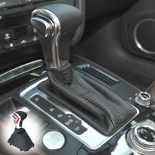 Outstand Leather Chrome Gear Shift Knob + Gaiter Boot Cover For Audi A4 A6 Q7 Q5
