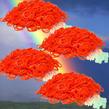 2400 Loom Rubber Bands Refill & S-Clips - Orange for Rainbow Loom -Free Sh