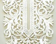 Iron On Trim for Neckline from India. Easy DIY. Large Neckline. Silver