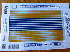 Microscale Decal HO #87-673 Via Rail Canada - VIA -- Stripes for Passenger Cars