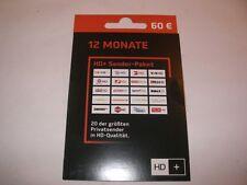 HD Plus Verlängerung für 12 Monate für alle HD Pluskarten HD01,HD02,HD03,HD04
