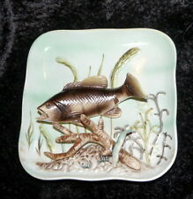 1950s Vintage Napco 3D Wall Plaque Smallmouth Black Bass Fish Fishing Fishermen