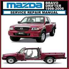 MAZDA BRAVO DRIFTER B2200 B2600 B2500 1998-2006 MODEL WORKSHOP MANUAL CDROM