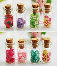 Lot of 8PCS GLASS JAR W/ Various Fruit 1/12 Dollhouse Miniature