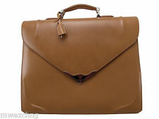 SAMSONITE BLACK LABEL BAYAMO BRIEFCASE TWO GUSSETS NEW BUTTERSCOTCH LEATHER