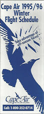 Cape Air Northern system timetable 9/7/95 [6011] (Buy 2 get 1 free)