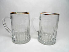 ROYAL WEDDING COMMEMORATE GLASS MUGS OF PRINCE CHARLES / LADY DIANA JULY 29 1981