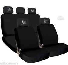 New 4X Car Live Laugh Love Logo Headrest and Black Cloth Seat Covers For Jeep