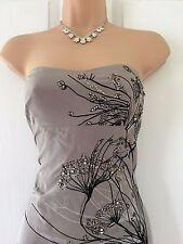 BEAUTIFUL KAREN MILLEN BLUSH/BLACK OMBRE SILK DRESS 14