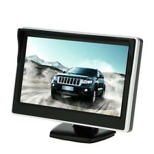 "5"" TFT LCD Car Truck Bus Rearview Reverse Monitor Screen With Sunshade 12V J0Y4"