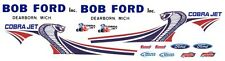 BOB FORD 2013 MUSTANG COBRA JET NHRA 1/12th Scale WATERSLIDE DECALS