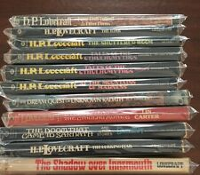LOT OF (11)  H. P. LOVECRAFT VINTAGE PAPERBACKS.   Sharp Copies.  No Reserve.