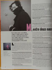 MATTHIEU CHEDID -M- Coupure de presse 1 page PARIS MATCH 2004 – French clipping