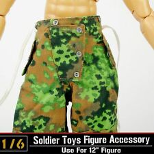 """DML Toy Pants 1:6 Dragon WWII Soldier Camouflage Clothes Trousers Fit 12"""" Figure"""