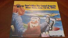 "Camel Cigarettes Camel Joe 17""x14"" Poster Augusta River Race 1992, CAMEL JOE!"