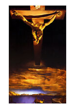 Christ St. John of the Cross Poster by Salvador Dali, Abstract Art, Surrealist
