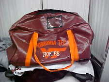 Official NCAA Virginia Tech Hokies Team Used Vinyl Football Equipment Carry Bag