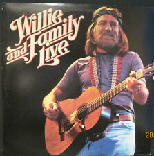 """Willie Nelson """"Willie and Family Live"""" Columbia Records 2 Lp Set EX Cond."""