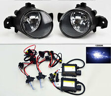 Glass Fog Lights Pair RH LH FITS Nissan Altima Maxima Rogue Sentra + 12,000K HID
